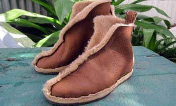 Обувь из старой дублёнки