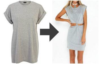 Крутое летнее платье из ненужной футболки