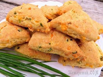 Вкуснейшие, рассыпчатые и очень сырные! Сконы - рецепт без заморочек!