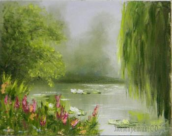 Лесное озеро покрыл густой туман (Стих)