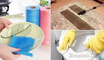 Простые средства для уборки в доме, которые найдутся у каждого в кухонном шкафчике