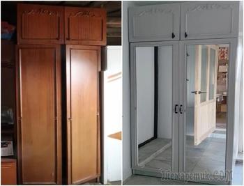 Новая жизнь старого шкафа: бюджетная переделка от изобретательной мастерицы