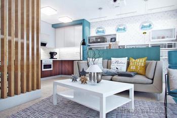 Интерьер квартиры 100 кв. м. для молодой семьи