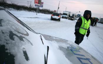 Можно ли схлопотать штраф, если пересек «сплошную», незаметную под снегом