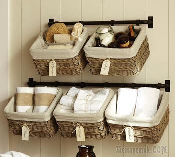 Компактное размещение вещей в ванной: лучшие идеи