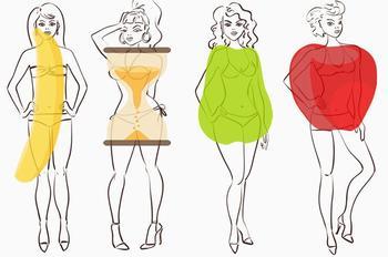 От чего толстеют разные типы фигур