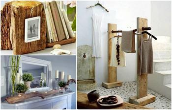 Уникальная мебель и предметы декора из натурального дерева