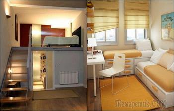 Идеи оформления маленькой спальни