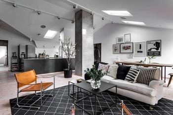 Двухуровневая квартира в Стокгольме