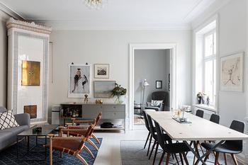 Шведская квартира в легких пастельных оттенках