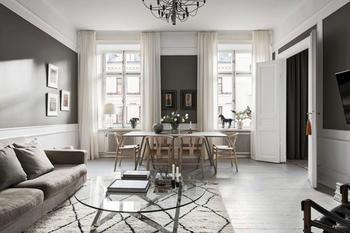 Стильная бело-серая квартира в Швеции