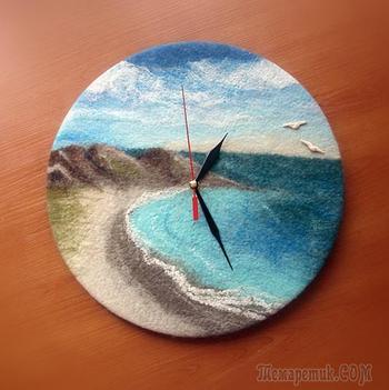 Создаем войлочные часы