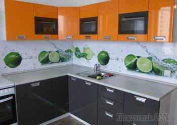 Кухонный фартук из пластика: виды, варианты дизайна