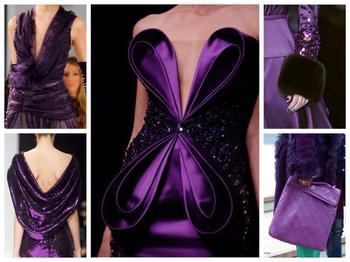 Интересные сочетания фиолетового цвета в одежде