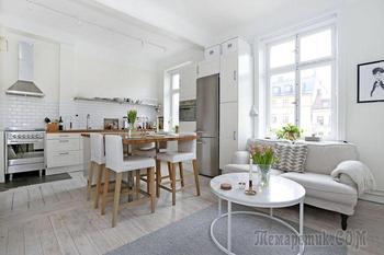 Маленькая квартира для молодой девушки: 30 квадратных метров элегантного интерьера