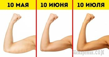 Выполняйте эти 6 упражнений, и ваши руки станут красивыми, как у модели