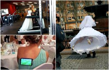17 весьма комичных свадебных моментов, запечатленных на снимках