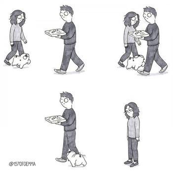 Новые очаровательные комиксы про то, каково жить с собакой