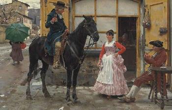 Жанровые картины художника XIX века, репродукции которых в наши дни стали играми-пазлами: Рафаэлло Сорби