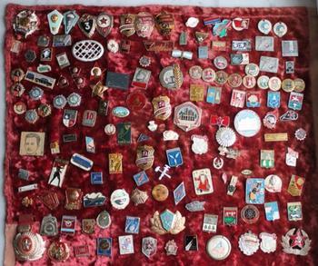 Коллекция советских значков
