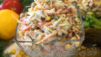 Невероятно быстрый салатик. Все порезал и готово!