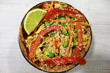 Тайский овощной салат. Яркий, вкусный, полезный салат с необычным вкусом