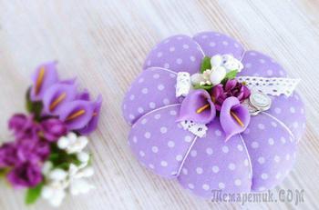 Подарок к 8 Марта: шьем симпатичную игольницу своими руками