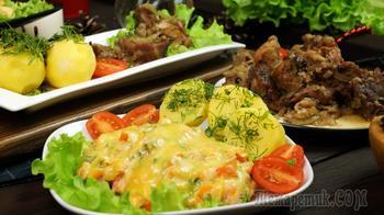 Филе индейки, запечённое в духовке с помидорами, сладким перцем  и сыром.