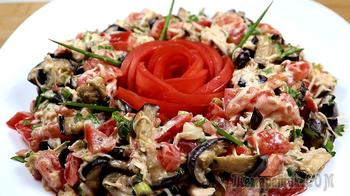 Салат с баклажанами и пармезаном