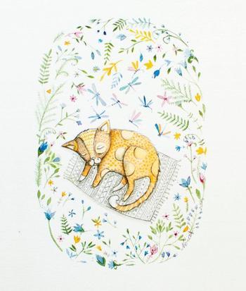 Коты в иллюстрациях литовской художницы Норвиль