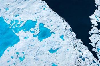 Реалистичные ледниковые ландшафты в пастельных картинах Зарии Форман