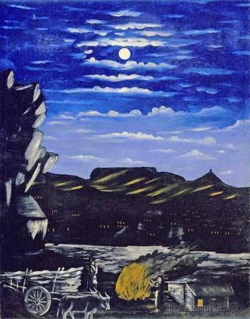«Арсенальская гора ночью» - первая работа Пиросмани и ещё 22 других картины