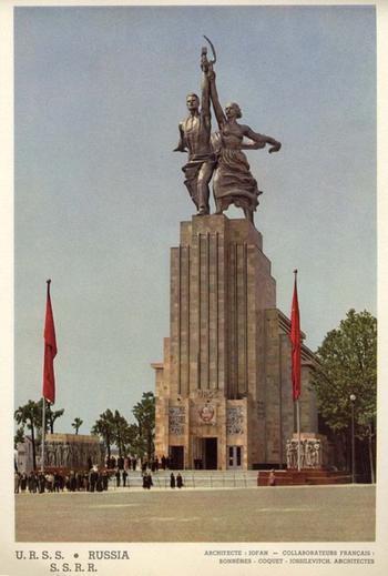 Самая знаменитая пара в СССР, или Как создавался памятник «Рабочий и колхозница», и что у него внутри