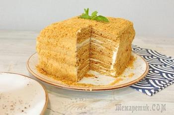 Торт «МЕДОВИК» Без раскатки коржей