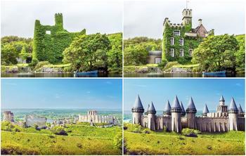 Как выглядели старинные замки до того, как превратились в руины