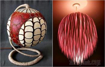 18 оригинальных плафонов, абажуров и ламп, которые можно сделать своими руками