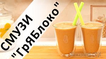 """Смузи """"ГрЯБлоко"""": груша-яблоко-банан"""