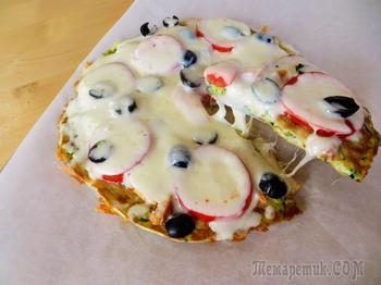Сочная пицца за 5 минут / Быстрый рецепт пиццы на сковороде