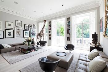 Красивая четырехкомнатная квартира в Лондоне