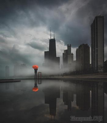 Хмурый Чикаго фотографа Майка Майерса