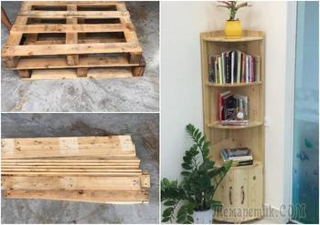 Как из вторсырья сделать угловой шкаф, который составит конкуренцию мебели из цельного дерева