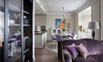 Лавандовый ар-деко в квартире 100 м²