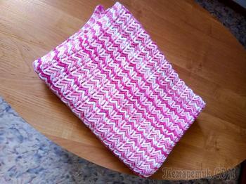 Розовый двухсторонний плед со схемой🤗🤗🤗🤗👍👍👍