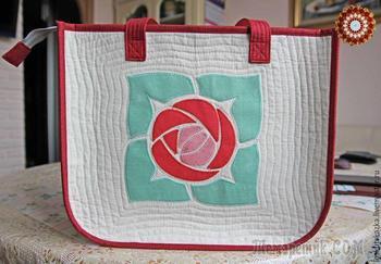 Шьем летнюю сумку с аппликацией «Роза»
