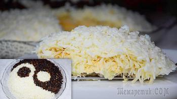 Удивите гостей салатом Инь Янь с курицей и сыром