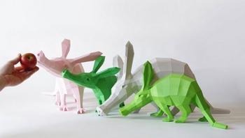 Геометрические бумажные скульптуры Вольфрама Кампфмейера