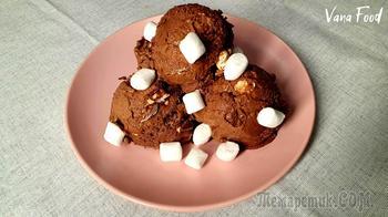 Шоколадное мороженое с маршмеллоу
