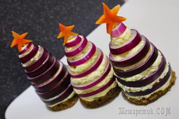 Закусочные елочки к новогоднему столу!