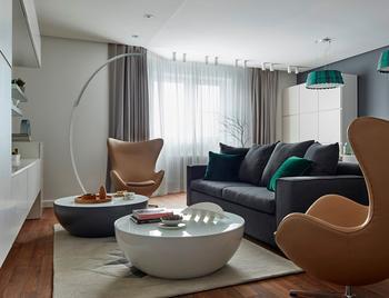 Современная квартира для большой семьи в Москве (160 кв. м)
