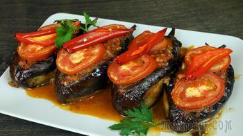 Баклажан  Фаршированный мясом. Карныярык